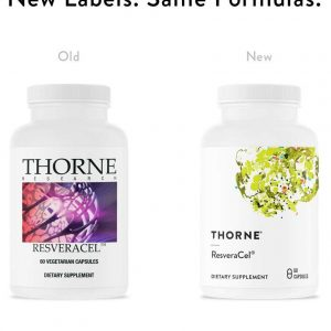 Thorne Research ResveraCel new packaging