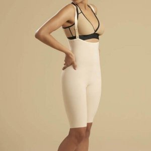 Liposuction Compression - First Stage Zipperless With Suspenders - Short Length By Marena